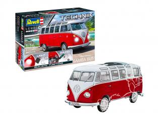revell maquette voiture 00455 Volkswagen T1 Samba Bus Technik 1/16