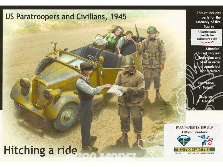 Master Box maquette figurines 35161L PARACHUTISTES 1ER RCP 1er Régiment de Chasseurs Parachutistes PROVENCE AOUT 1944 1/35