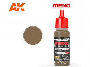Meng Color peinture acrylique MC-214 Jaune sable 17ml