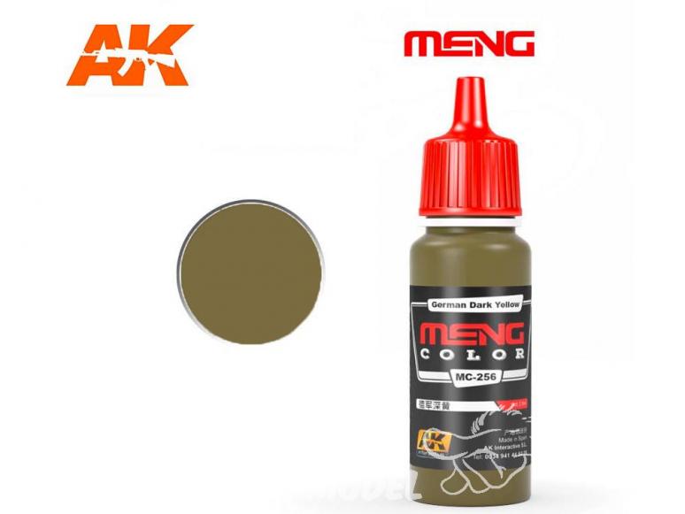 Meng Color peinture acrylique MC-256 Jaune foncé Allemand 17ml