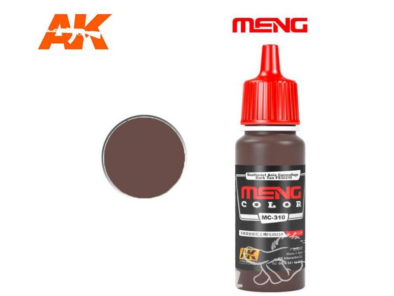 Meng Color peinture acrylique MC-310 Tan foncé FS30219 Camouflage Asie SudEst 17ml