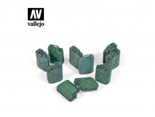 Vallejo Bases de diorama SC206 Bidons à essence Allié Jerry Can WWII 1/35