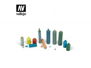 Vallejo Bases de diorama SC209 Bouteilles de gaz modernes 1/35