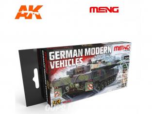 Meng Color Set peintures acrylique MC-802 Véhicules modernes Allemands 6 x 17ml