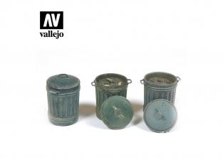 Vallejo Bases de diorama SC212 Poubelles set 1 1/35