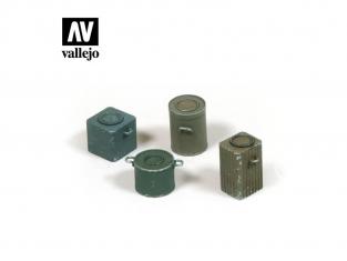 Vallejo Bases de diorama SC224 Contenants alimentaires allemands WWII 1/35