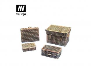 Vallejo Bases de diorama SC227 Valises et malle façons osier 1/35