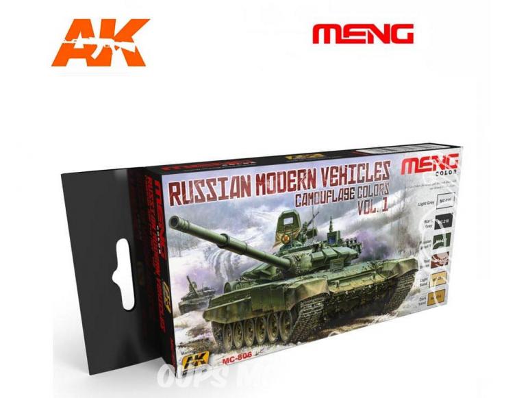 Meng Color Set peintures acrylique MC-806 Couleurs camouflage Véhicules Russes modernes Vol.1 6 x 17ml