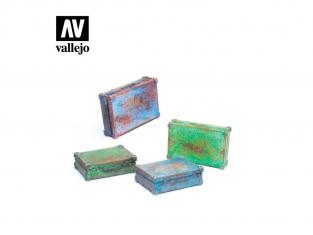 Vallejo Bases de diorama SC226 Porte-documents en métal 1/35