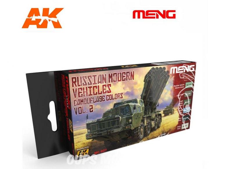Meng Color Set peintures acrylique MC-807 Couleurs camouflage Véhicules Russes modernes Vol.2 6 x 17ml