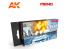 Meng Color Set peintures acrylique MC-811 Couleurs Navales Britanniques & US Navy 6 x 17ml