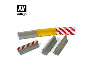 Vallejo Bases de diorama SC214 Barrières de ciment 1/35
