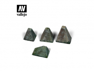 "Vallejo Bases de diorama SC218 Höckerhindernis ""Dents de Dragon"" Type 38 WWII 1/35"