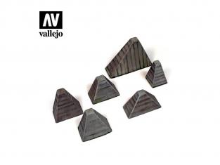 """Vallejo Bases de diorama SC219 Höckerhindernis """"Dents de Dragon"""" WWII 1/35"""