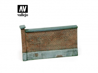 Vallejo Bases de diorama SC005 Section de Mur de brique 1/35