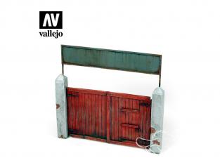 Vallejo Bases de diorama SC006 Porte en bois 1/35