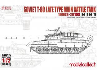 Modelcollect maquette militaire 72175 Char de combat principal soviétique T-80 de type tardif des années 1990 à 2010 N en 1 1/72