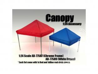 American Diorama accessoire AD-77587 Set tente (Armature chrome) 1/24