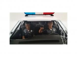 American Diorama figurine AD-23826 Police - Set de 2 demi-figurines 1/24