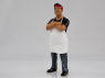American Diorama figurine AD-38441 Food Truck Chef - Victor 1/24