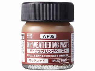 Mr Hobby wp05 Mr. WEATHERING Pate BOUE ROUGE