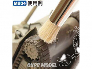Mr Hobby pinceau MB34 Mr.WEATHERING SET BROSSE EXTRA LARGE DOUX ET DUR