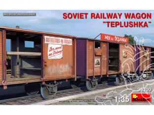 Mini Art maquette militaire 35300 WAGON FERROVIAIRE SOVIÉTIQUE «TEPLUSHKA» 1/35