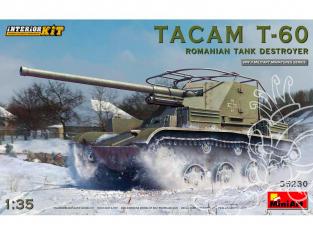 Mini Art maquette militaire 35230 DESTRUCTEUR DE CHAR TACAM T-60 ROUMAIN avec interieur détaillé 1/35