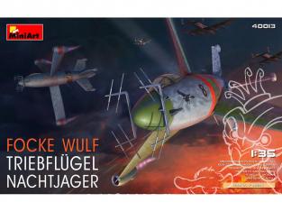 Mini Art maquette avion 40013 FOCKE WULF TRIEBFLUGEL Chasseur de nuit 1/35