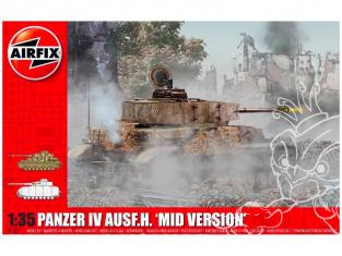 Airfix maquette militaire A1351 Panzer IV Ausf.H Mid Version 1/35