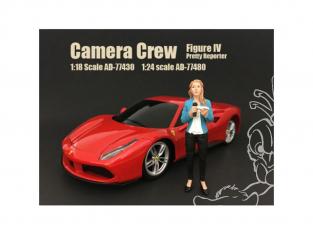 American Diorama figurine AD-77480 Equipe de tournage - Jolie journaliste 1/24