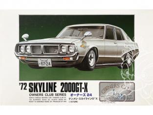 Arii maquette voiture 11154 Nissan Skyline 2000GT-X 1972 1/24