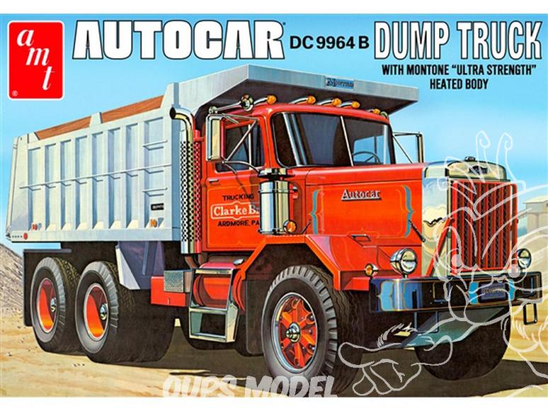 AMT maquette camion 1150 Autocar DC 9964 B camion benne 1/25