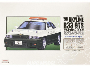 Arii maquette voiture 47064 Nissan Skyline R33 GT-R 1995 Voiture de patrouille 1/32