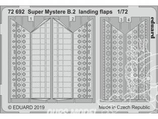 Eduard photodecoupe avion 72692 Volets d'atterrissage Super Mystere B.2 Special Hobby 1/72