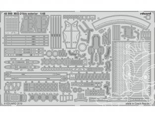 EDUARD photodecoupe avion 48999 Extérieur MiG-21Bis Eduard 1/48