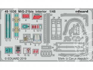EDUARD photodecoupe avion 491036 Intérieur MiG-21Bis Eduard 1/48