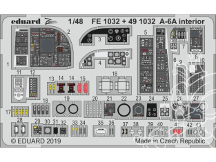 EDUARD photodecoupe avion 491032 Intérieur A-6A Hobby Boss 1/48