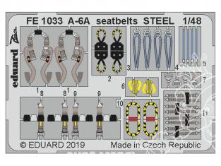 EDUARD photodecoupe avion FE1033 Harnais métal A-6A Hobby Boss 1/48