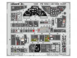 EDUARD photodecoupe avion FE1034 Zoom Amélioration IL-28T Bobcat 1/48