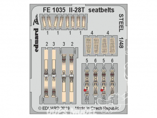 EDUARD photodecoupe avion FE1035 Harnais métal IL-28T Bobcat 1/48
