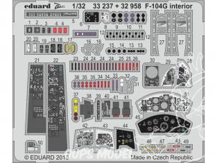 Eduard photodécoupe avion 32958 Intérieur F-104G Italeri 1/32