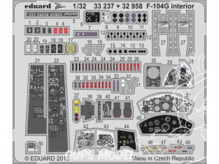 Eduard photodécoupe avion 33237 Zoom Intérieur F-104G Italeri 1/32