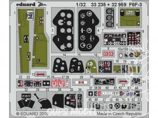 Eduard photodécoupe avion 33235 Zoom Amélioration F6F-3 Trumpeter 1/32