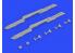 Eduard kit d'amelioration avion brassin 648502 MBD-3-UT-1 Multiple rack 1/48