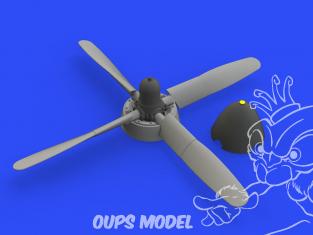 Eduard kit d'amelioration avion brassin 648487 P-51D Hélice Standard Hamilton Eduard 1/48