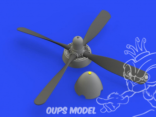 Eduard kit d'amelioration avion brassin 648488 P-51D Hélice Standard Hamilton Uncuffed Eduard 1/48