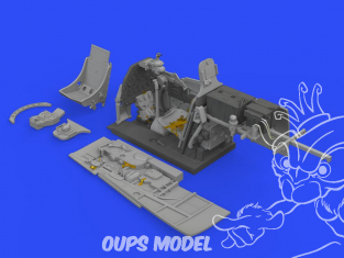 Eduard kit d'amelioration avion brassin 648489 Cockpit P-51D-5 Eduard 1/48