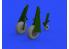 Eduard kit d'amelioration avion brassin 648503 P-51D Roues avec bande de roulement ovale Eduard 1/48