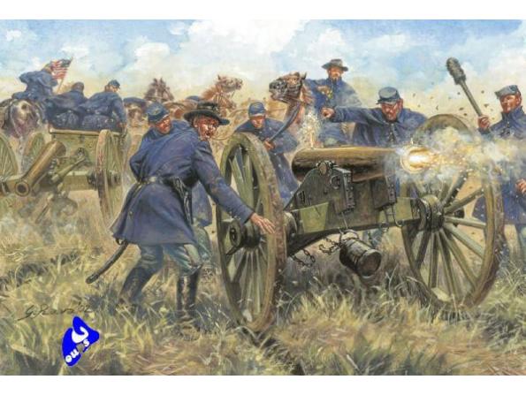 Italeri maquette historique 6038 artillerie de l&39union 1/72